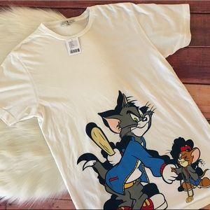 Junk Food Tom & Jerry T-Shirt Medium NWT